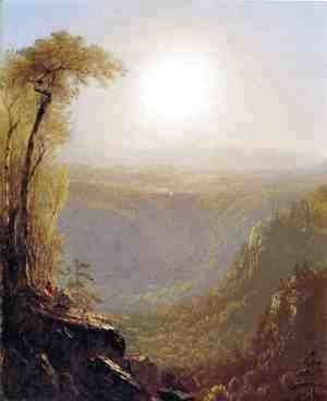 Sanford Robinson Gifford - Kauterskill Clive, in the Catskills