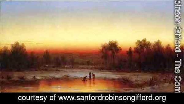 Sanford Robinson Gifford - A Winter Twilight