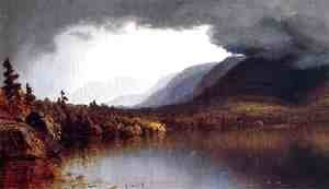 Sanford Robinson Gifford - A Coming Storm on Lake George