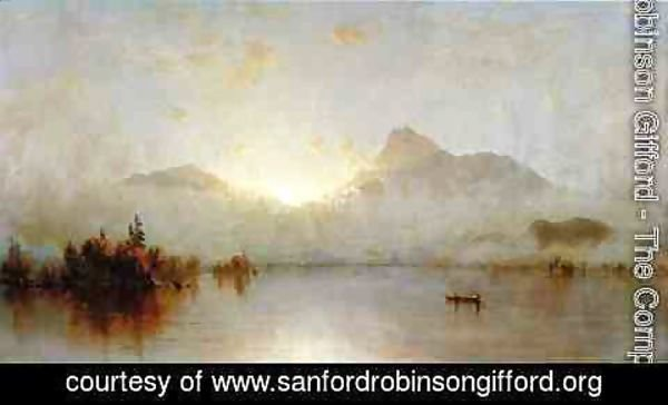 Sanford Robinson Gifford - A Sunrise on Lake George