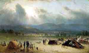 Sanford Robinson Gifford - Camp of the Seventh Regiment, near Frederick, Maryland, in July 1863