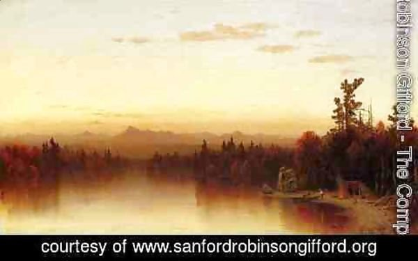 Sanford Robinson Gifford - A Twilight in the Adirondacks