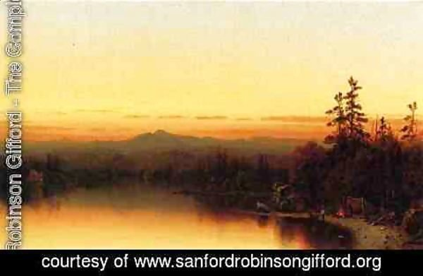 Sanford Robinson Gifford - A Twilight in the Adirondacks I