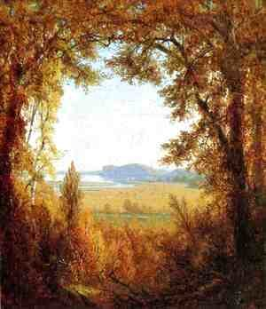 Sanford Robinson Gifford - Hook Mountain on the Hudson River