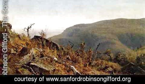 Sanford Robinson Gifford - The View from South Mountain in the Catskills, A Sketch