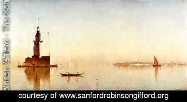 Sanford Robinson Gifford - Leander's Tower on the Bosphorus