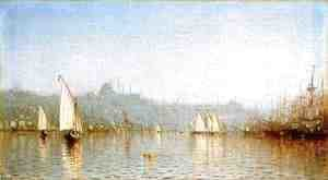 Sanford Robinson Gifford - Constantinople, from the Golden Horn