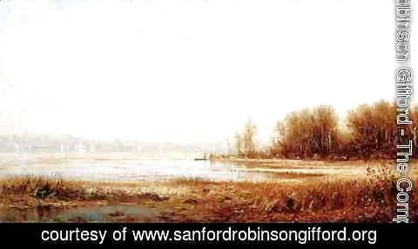 Sanford Robinson Gifford - The Marshes of the Hudson