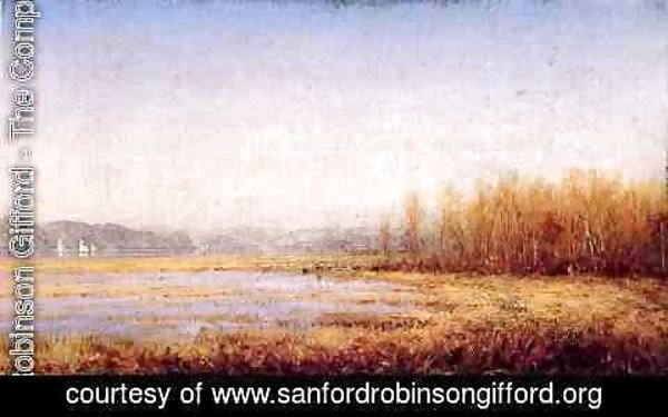 Sanford Robinson Gifford - Marshes of the Hudson