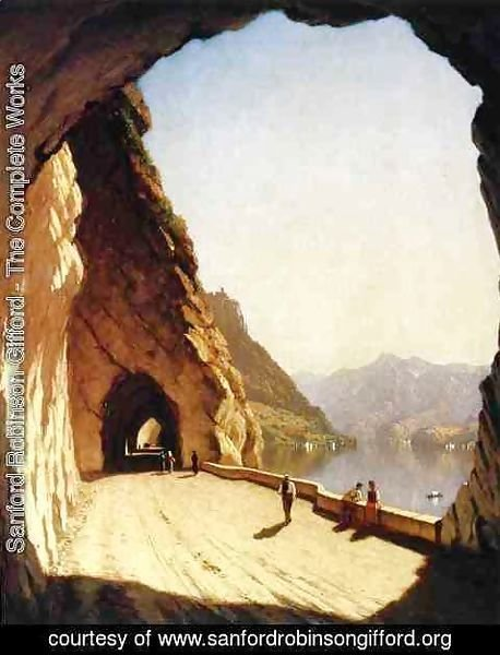Sanford Robinson Gifford - The Galleries of the Stelvio - Lake Como