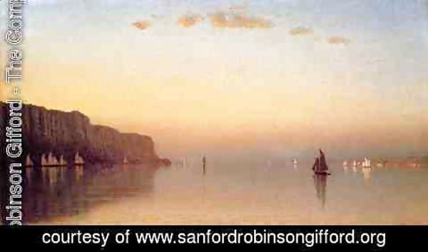 Sanford Robinson Gifford - Sunset over the Palisades on the Hudson