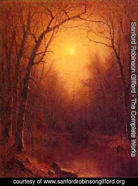 Sanford Robinson Gifford - Indian Summer in the Bronx
