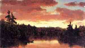 Sanford Robinson Gifford - Sunset on Lake George