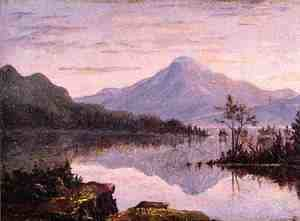 Sanford Robinson Gifford - Toung Mountain, Lake George