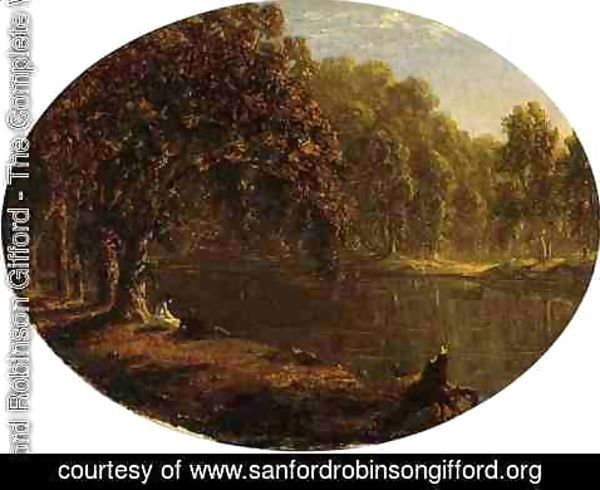 Sanford Robinson Gifford - The River-Bank