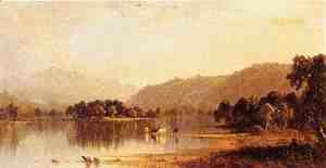 Sanford Robinson Gifford - Mount Washington from The Saco River
