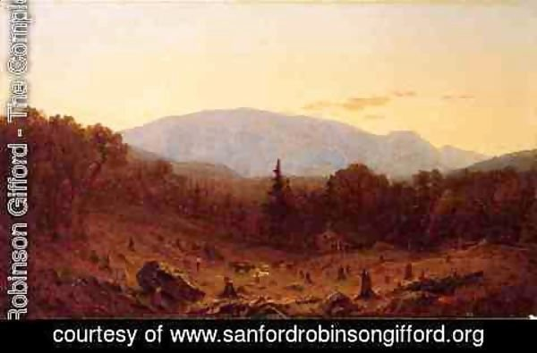 Sanford Robinson Gifford - Twilight on Hunter Mountain