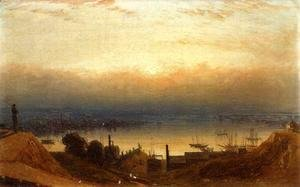 Sanford Robinson Gifford - The Basin of the Patapsco from Federal Hill, Baltimore