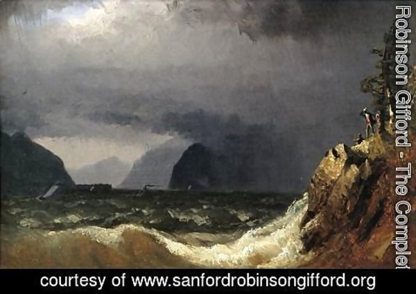 Sanford Robinson Gifford - Storm King of the Hudson