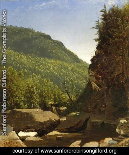 Sanford Robinson Gifford - The Top of Kauterskill Falls