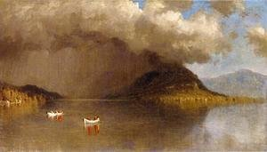 Sanford Robinson Gifford - Coming Rain on Lake George: A Sketch