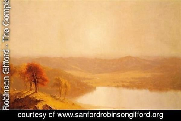 Sanford Robinson Gifford - A View from the Berkshire Hills, near Pittsfield, Massachusetts