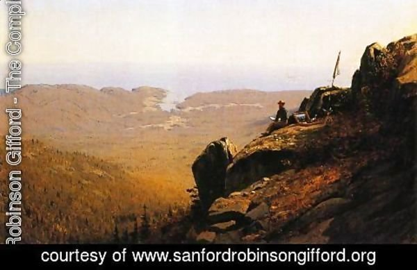 Sanford Robinson Gifford - The Artist Sketching at Mount Desert, Maine