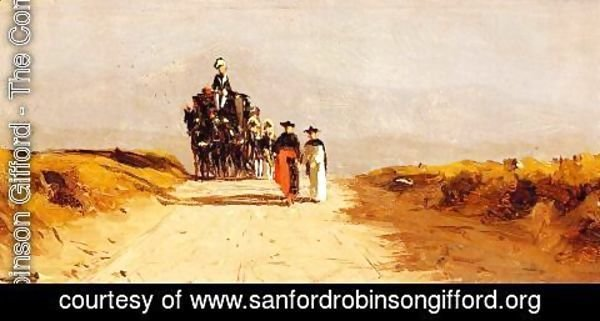 Sanford Robinson Gifford - Cardinal's Coach on the Campagna