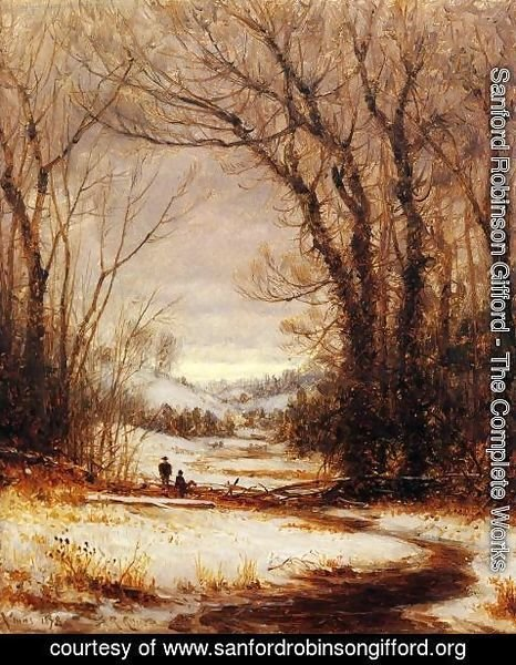 Sanford Robinson Gifford - A Winter Walk