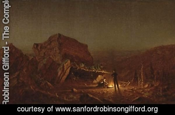 Sanford Robinson Gifford - Camping for the Night on Mansfield Mountain