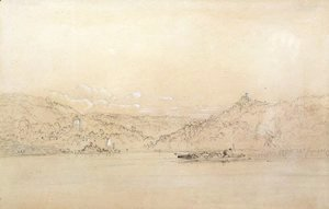 Sanford Robinson Gifford - View of Tivoli and Landscape with Ruins
