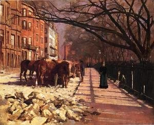 Sanford Robinson Gifford - Beacon Street Boston 1884