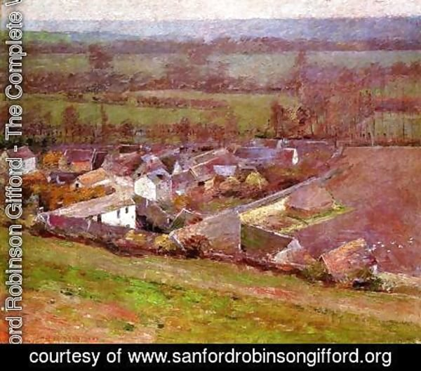 Sanford Robinson Gifford - Bird's Eye View Giverny 1889