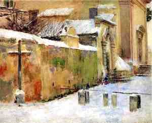 Sanford Robinson Gifford - Church in Snow 1891