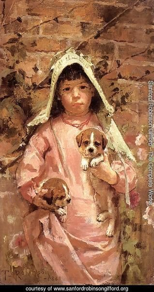 Girl with Puppies 1881
