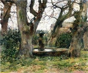 Italian Landscape with a Fountain 1891