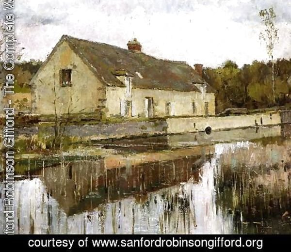 Sanford Robinson Gifford - On the Canal