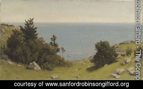 Sanford Robinson Gifford - A Sketch Near Manchester, Massachusetts