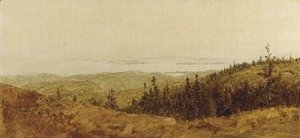 Sanford Robinson Gifford - Looking Down From Sargent Mountain, Mt. Desert