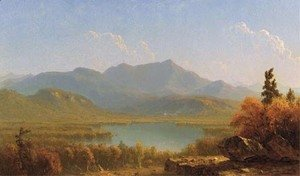 Sanford Robinson Gifford - Mote Mountain from Echo Lake, New Hampshire