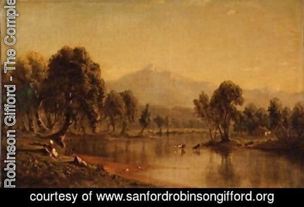 Sanford Robinson Gifford - Mount Washington, New Hampshire, From The Saco River