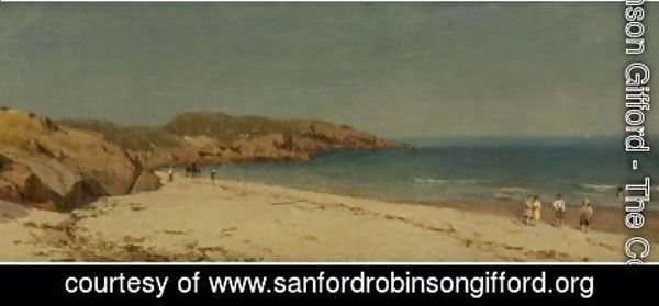 Sanford Robinson Gifford - Along The Beach, Cape Ann, Massachusetts