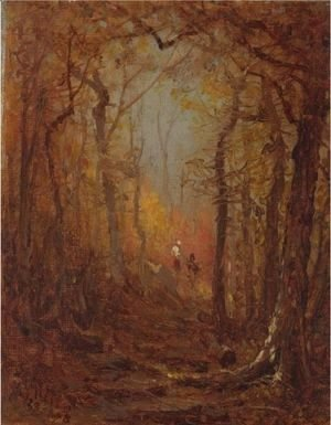 Sanford Robinson Gifford - Sketch For The Woods In Autumn