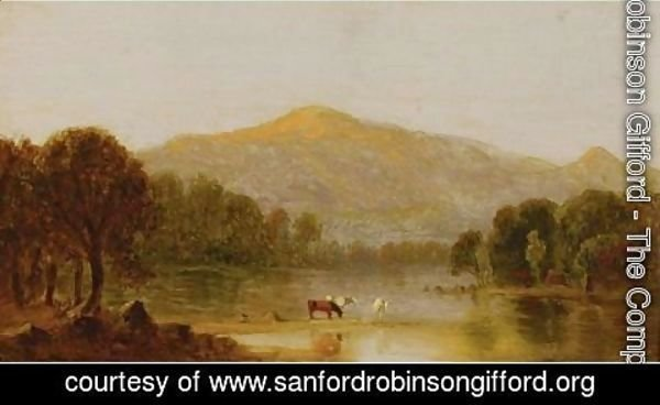 Sanford Robinson Gifford - Mount Washington From The Saco River 2