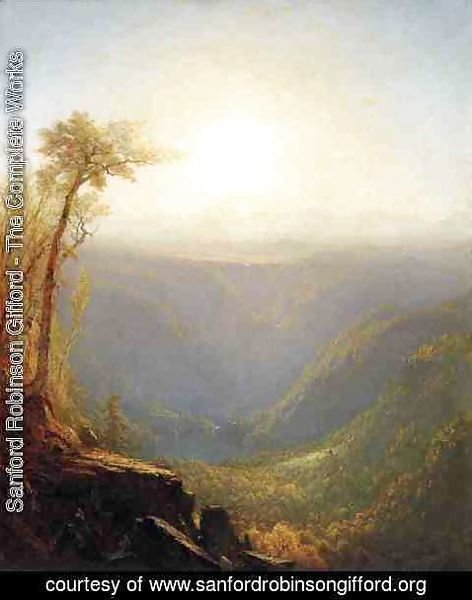 Sanford Robinson Gifford - A Gorge In The Mountains (Kauterskill Clove)