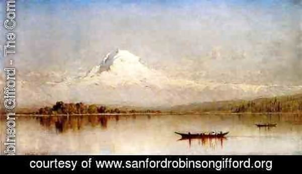 Sanford Robinson Gifford - Mount Rainier  Bay Of Tacoma