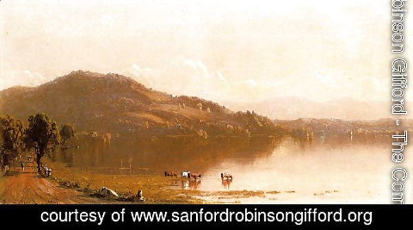 Sanford Robinson Gifford - Mt  Merino On The Hudson Near Olana