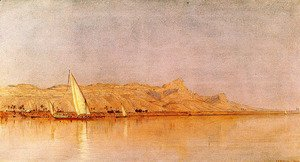 Sanford Robinson Gifford - On The Nile  Gebel Shekh Hereedee
