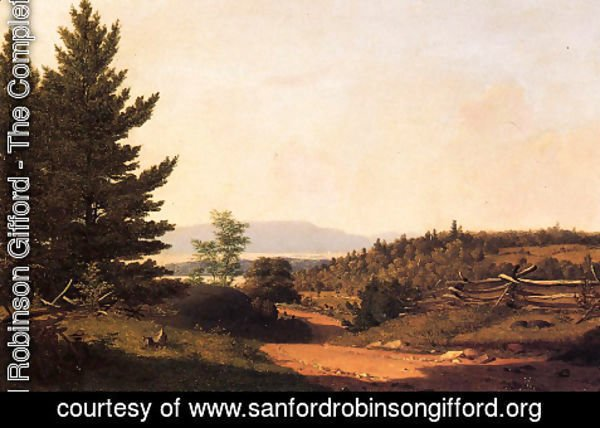 Sanford Robinson Gifford - Road Scenery Near Lake George