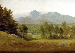 Sanford Robinson Gifford - Sketch Of Mount Chocorua  New Hampshire